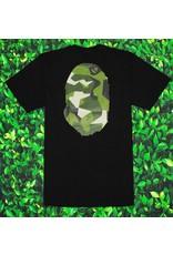Bape  GEOMETRIC GREEN CAMO APE HEAD TEE