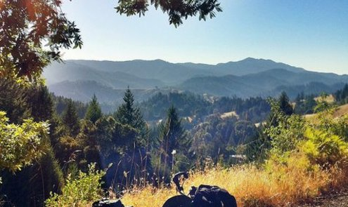 Down the Pacific Coast by Brompton
