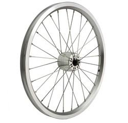 Schmidt Brompton DYNO wheel, SON XS hub, silver rim, Sapim spokes