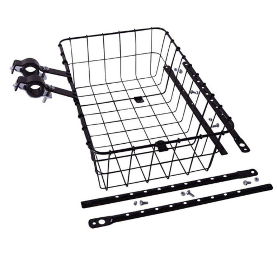 Wald 1372 Front Basket, Black, Multi-Fit