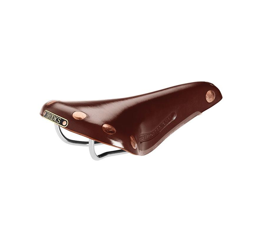 Brooks Team Pro Leather Saddle, Chrome Rails