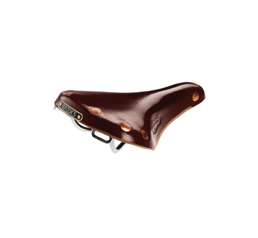 Brooks Team Pro S Leather Saddle, Chrome rails