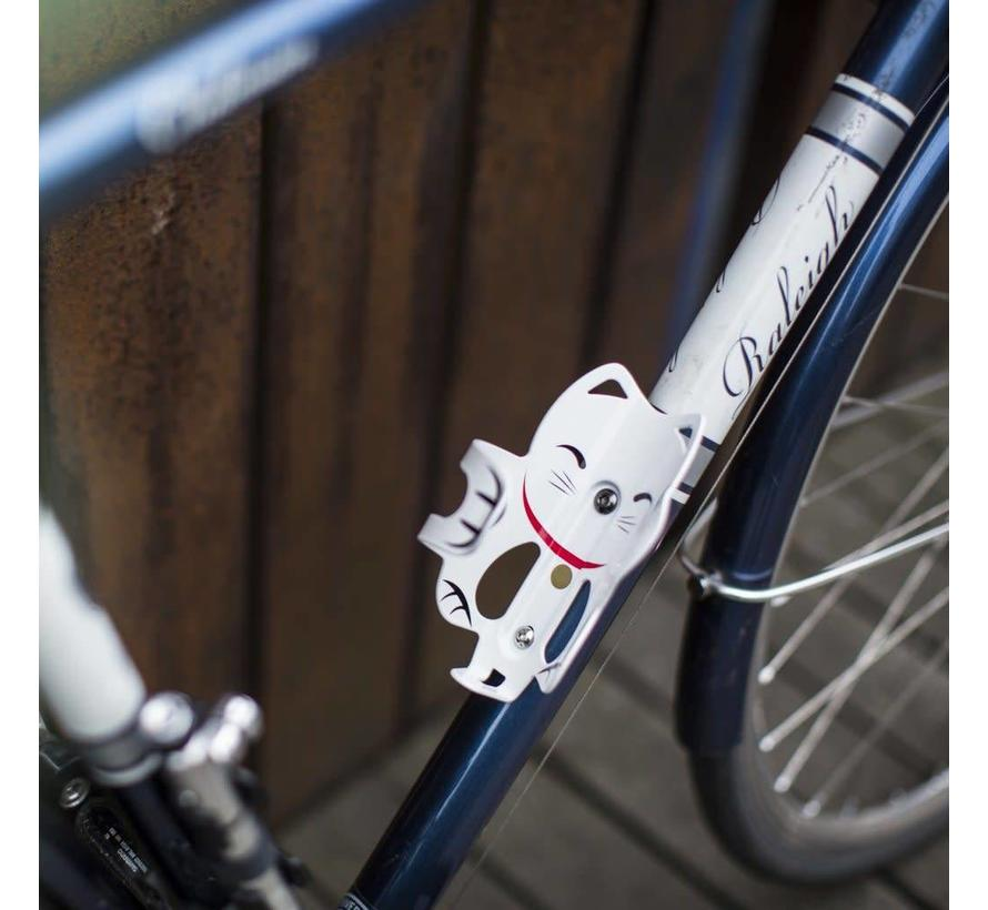 PDW Lucky Cat Bottle Cage, White