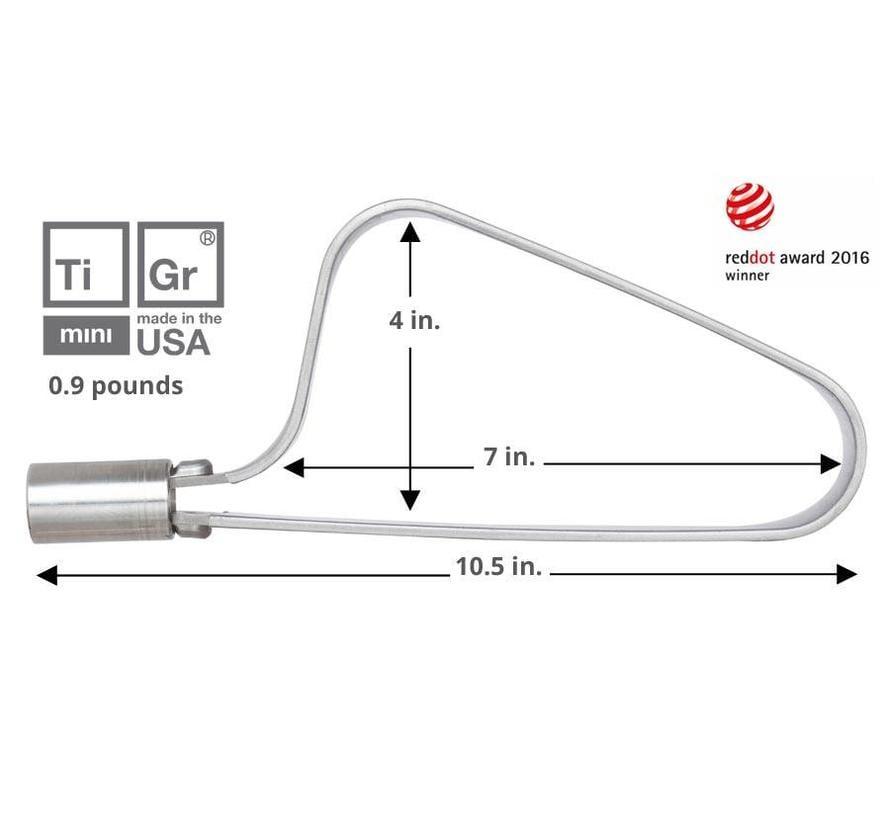 TiGr Mini Titanium U-Lock & Mounting Clip