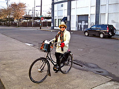 Lisa and her Workcycles bike