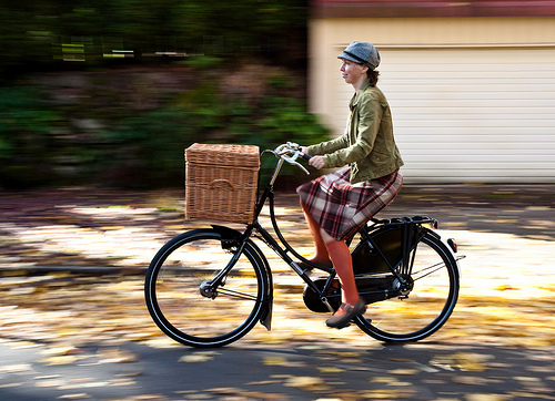 Zuzana and her Workcycles bike