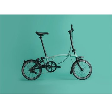 Brompton H6L Black Edition Brompton Folding Bike, Turkish Green