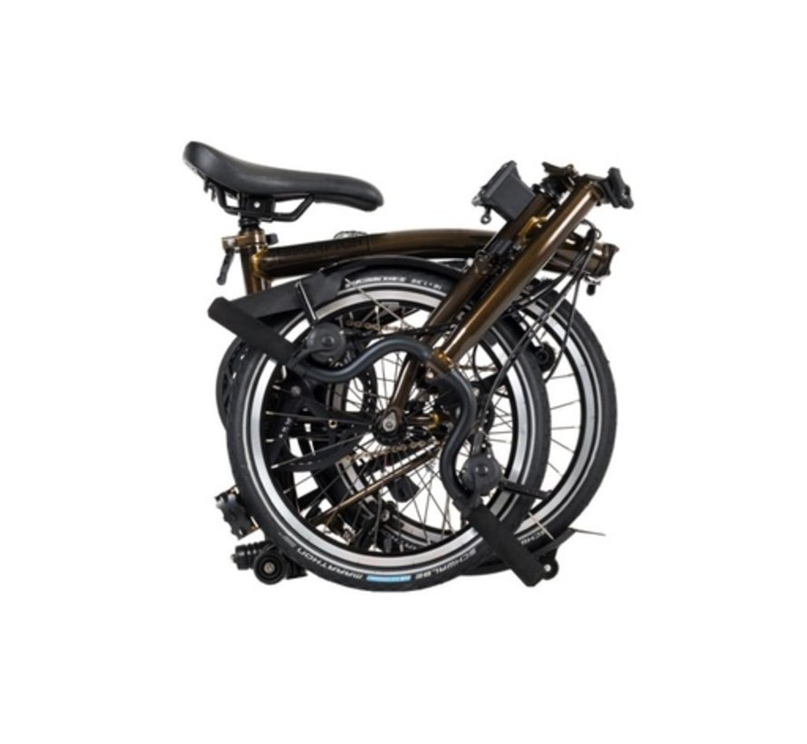 M6L Black Edition Brompton Folding Bike, Raw Lacquer