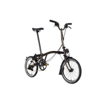 Brompton H6L Black Edition Brompton Folding Bike, Raw Lacquer