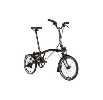 Brompton H6R Black Edition Brompton Folding Bike, Raw Lacquer