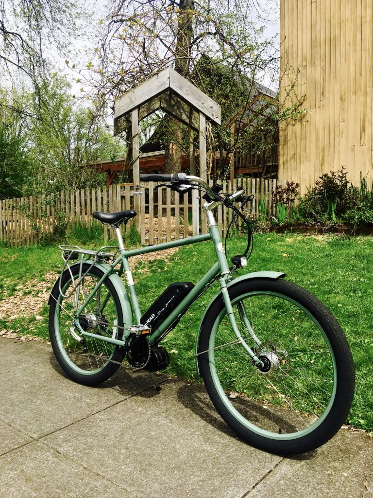 Benno Bikes green bike