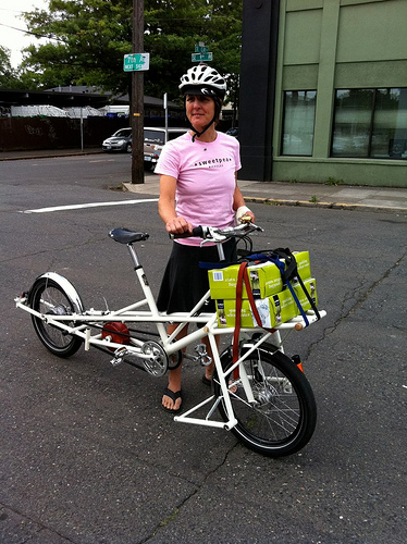 Carrying stuff on our Constructor's Challenge bike