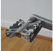 Ti Parts Workshop TPW Brompton - Double X Pedal Single Side Quick Release, Clear Anodized