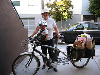 Xtracycle hauling cargo