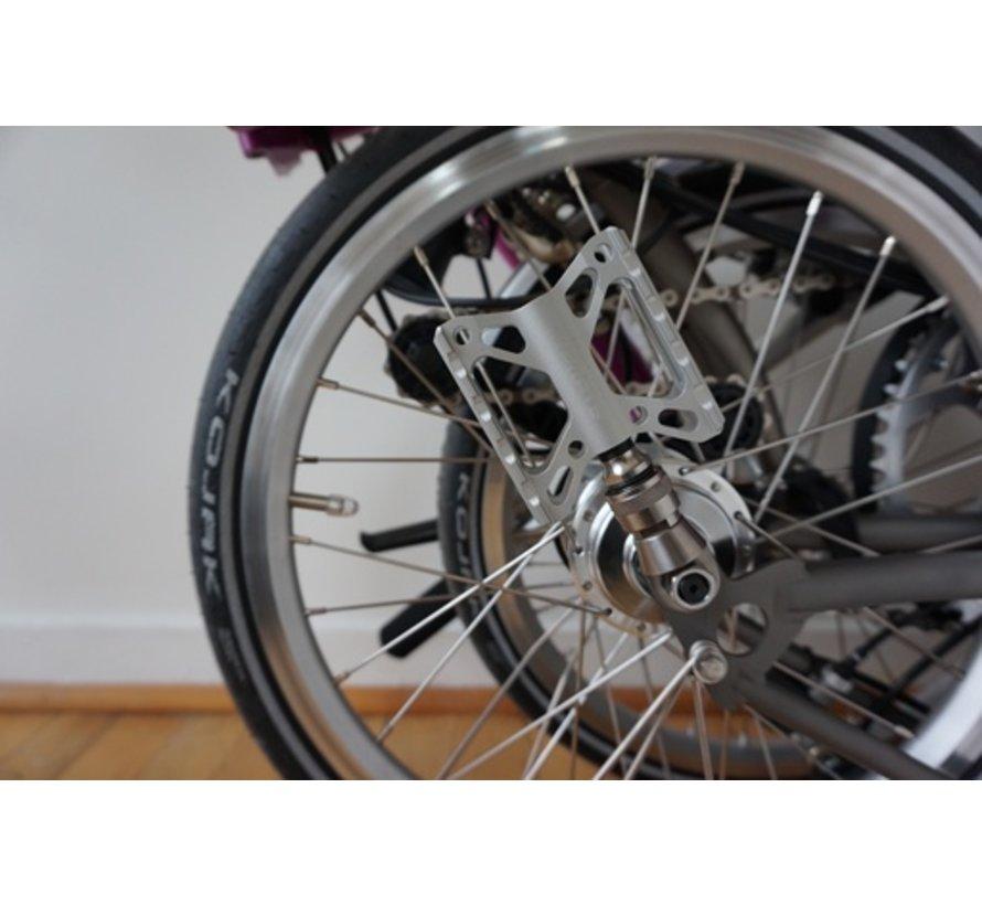 TPW Brompton - Ti Pedal Holder, Silver