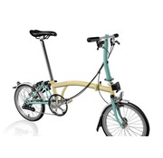 Brompton Brompton S6L Folding Bike, Ivory and Turkish Green