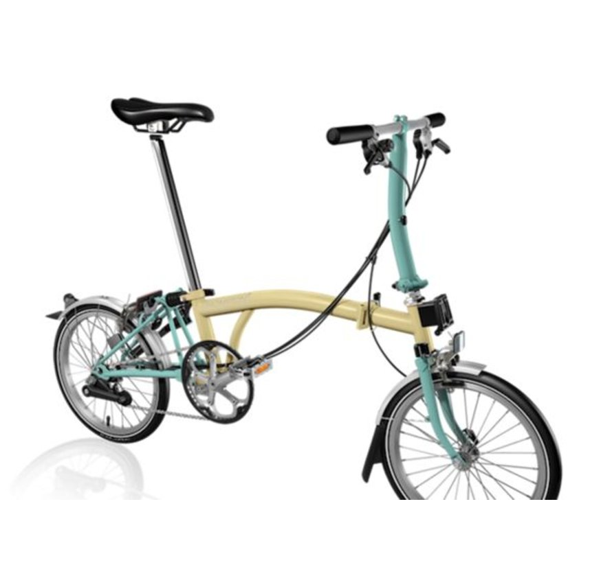 Brompton S6L Folding Bike Ivory and Turkish Green