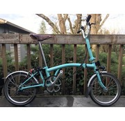 Brompton Used Brompton M6L Folding Bike, Turkish Green