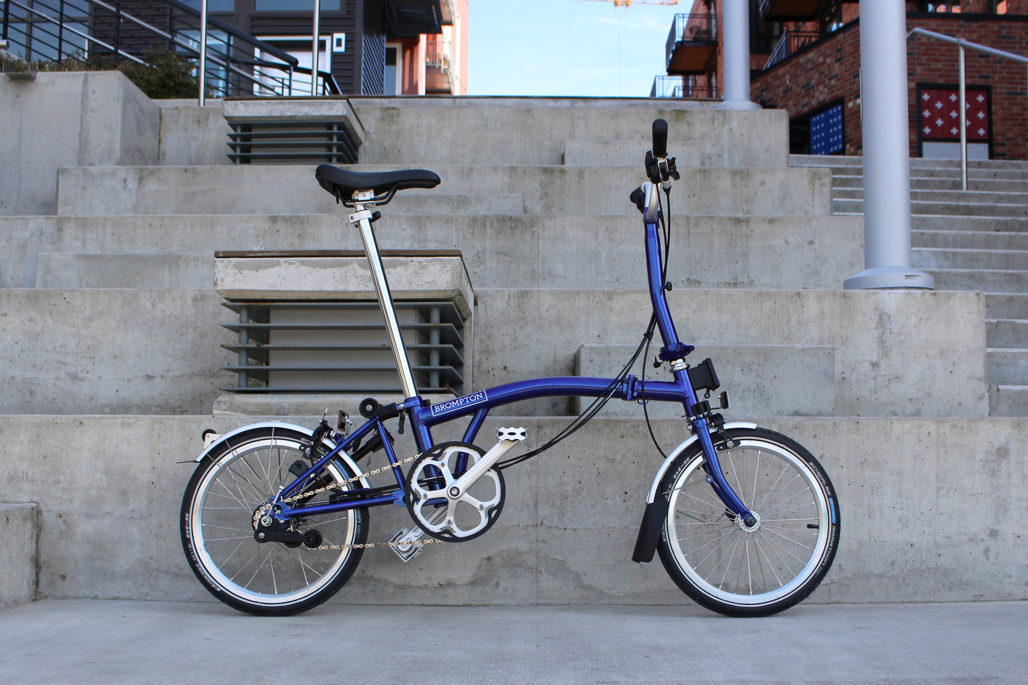 Brompton Purple Metallic Folding Bike