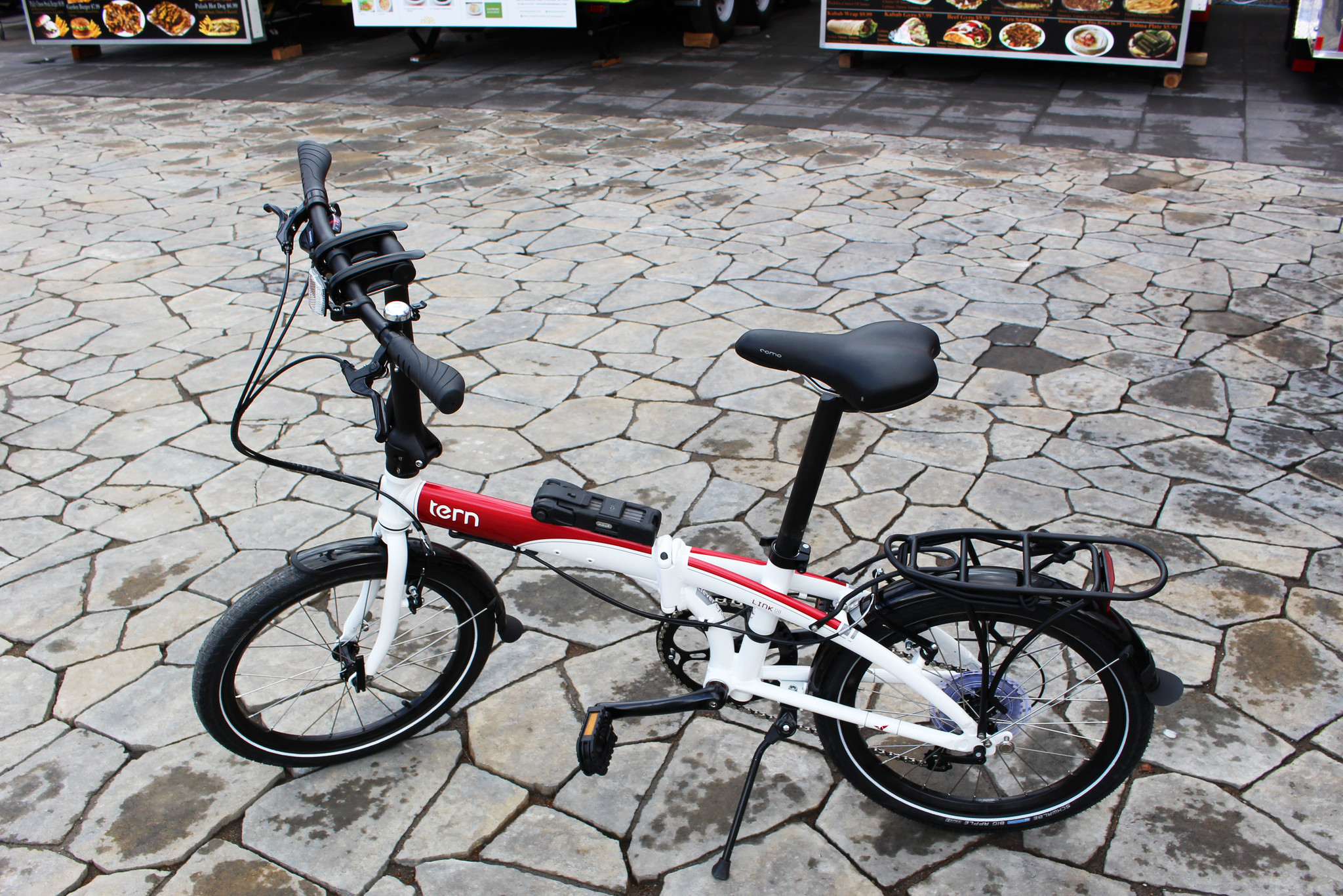 White and Red Tern Link D8 Folding Bike