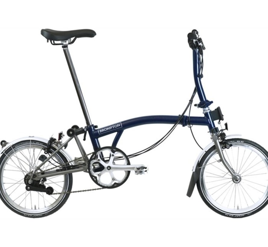 Brompton S6LX Superlight Titanium Folding Bike, Tempest Blue