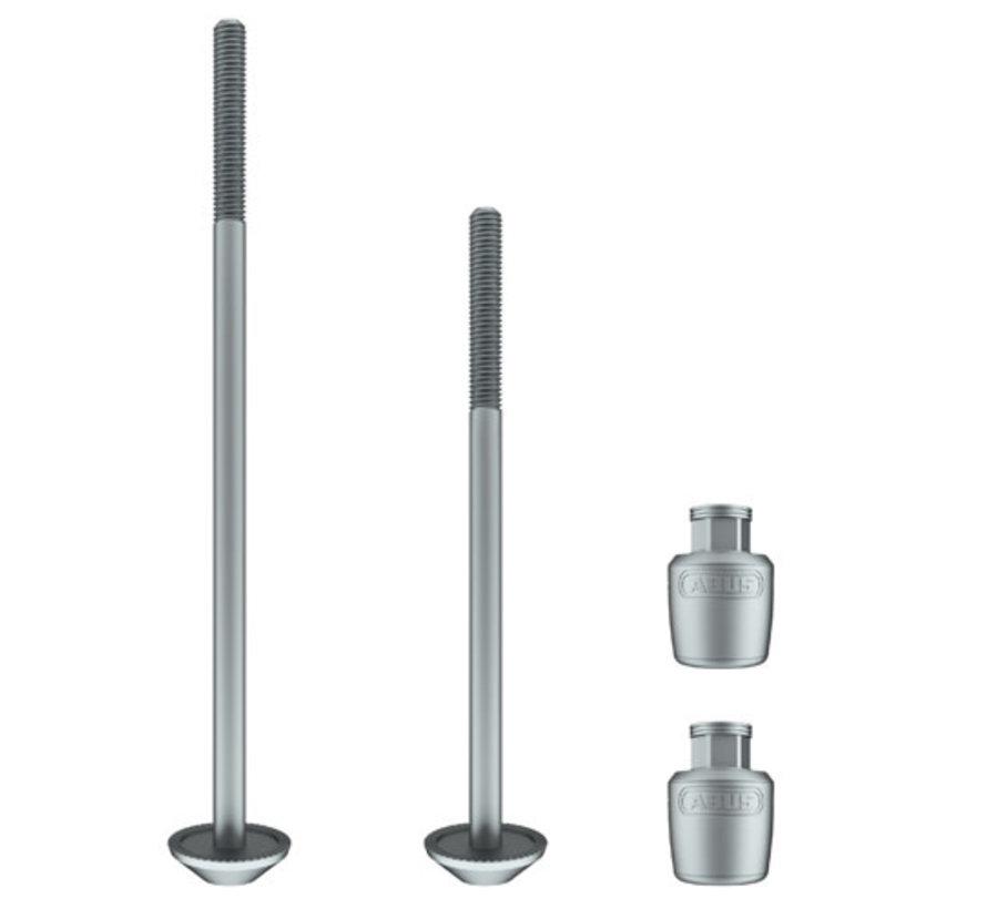 ABUS Nutfix Quick Release Pair: 100f/135r, Silver