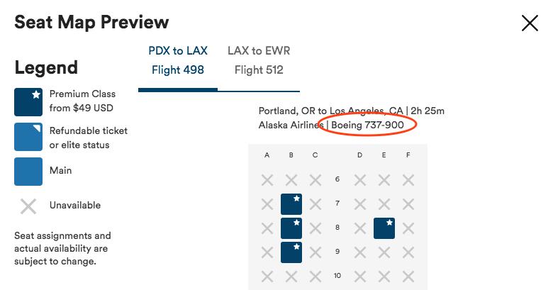 Alaska Airlines aircraft information