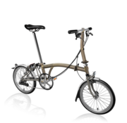 Brompton Brompton S6LX Superlight Titanium Folding Bike, Raw Lacquer