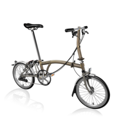 Brompton Brompton S6LX Superlight Titanium Folding Bike, Black Lacquer