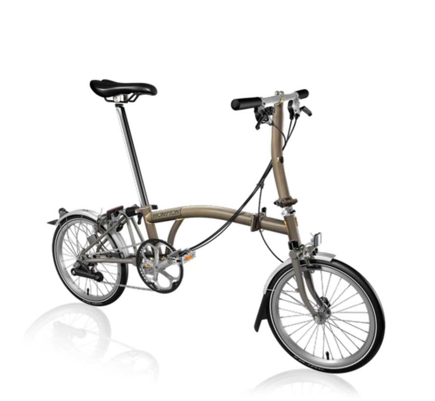 Brompton S6LX Superlight Titanium Folding Bike, Black Lacquer