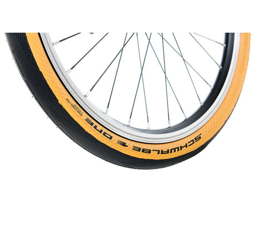 Brompton Schwalbe One tire 35 349, gum sidewall