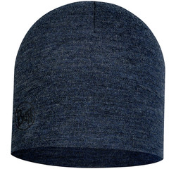 Buff Midweight Merino Wool Hat, Night Blue Melange