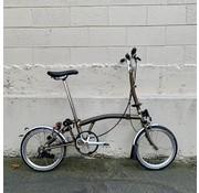 Used Brompton Used H6L Brompton folding bike, Raw Lacquer