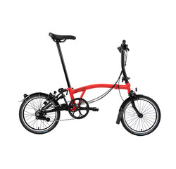 Brompton S6L Black Edition Brompton, Rocket Red