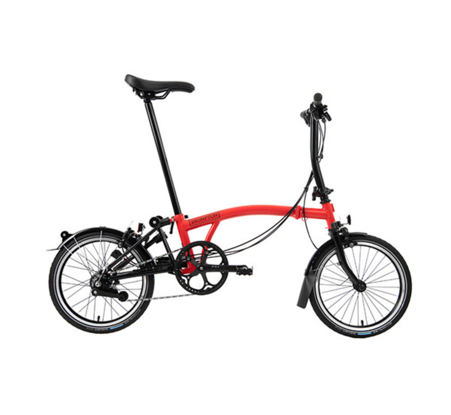 S6L Black Edition Brompton, Rocket Red