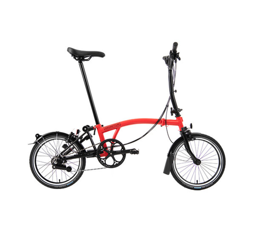 M6L Black Edition Brompton, Rocket Red