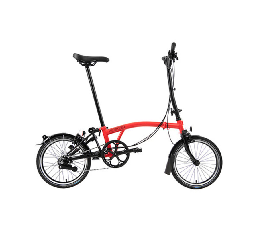 H6L Black Edition Brompton, Rocket Red