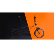 Brompton H6L Black Edition Brompton, Orange, Dyno