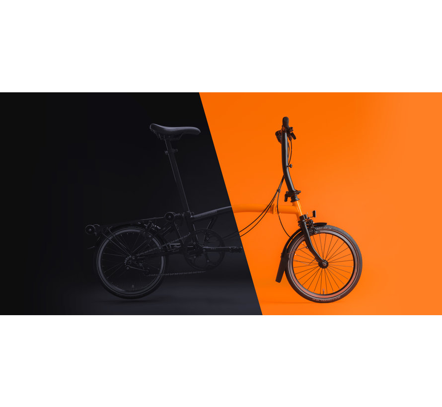 H6L Black Edition Brompton, Orange, Dyno