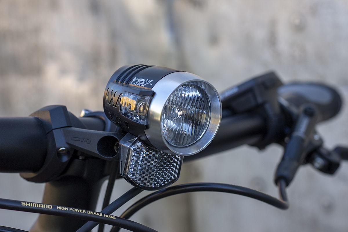 An ebike's built-in lights