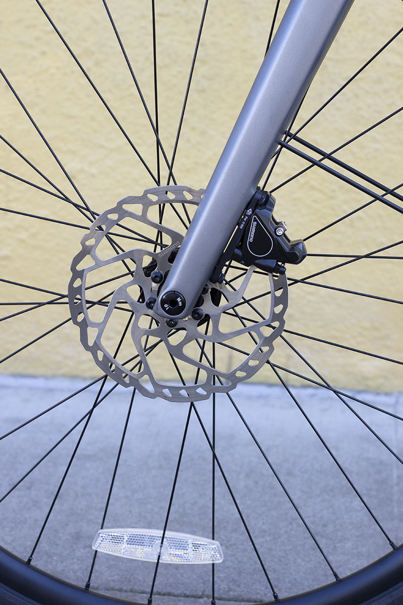Disc brake on an ebike