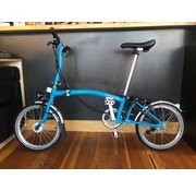 Brompton Brompton Folding Bike Demo, S6L Lagoon Blue, Dyno