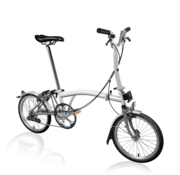 Brompton Brompton M2LX Superlight Titanium Folding Bike, White