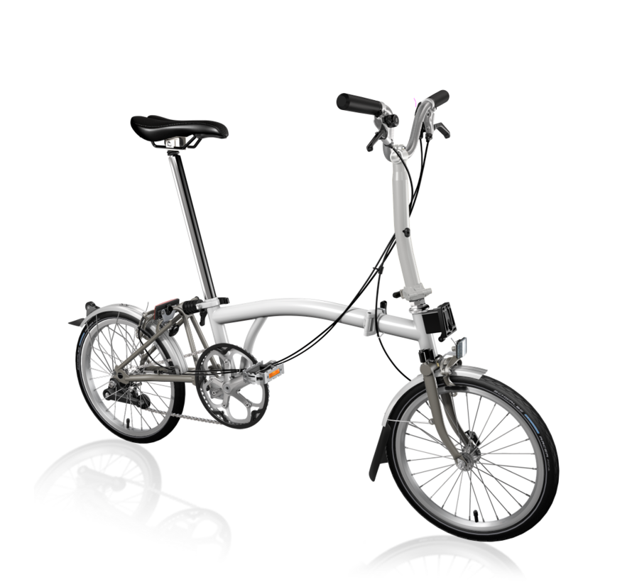 Brompton M2LX Superlight Titanium Folding Bike, White