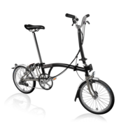 Brompton Brompton H6LX Superlight Titanium Folding Bike, Black