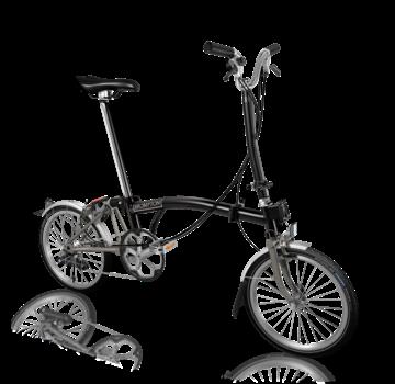 Brompton Brompton H6LX Superlight Titanium Folding Bike, Black
