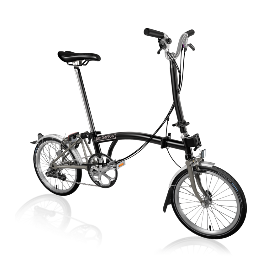 Brompton H6LX Superlight Titanium Folding Bike, Black