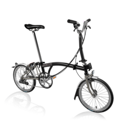 Brompton Brompton M6LX Superlight Titanium Folding Bike, Black