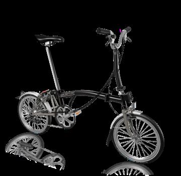 Brompton Brompton M6LX Superlight Titanium Folding Bike, Black