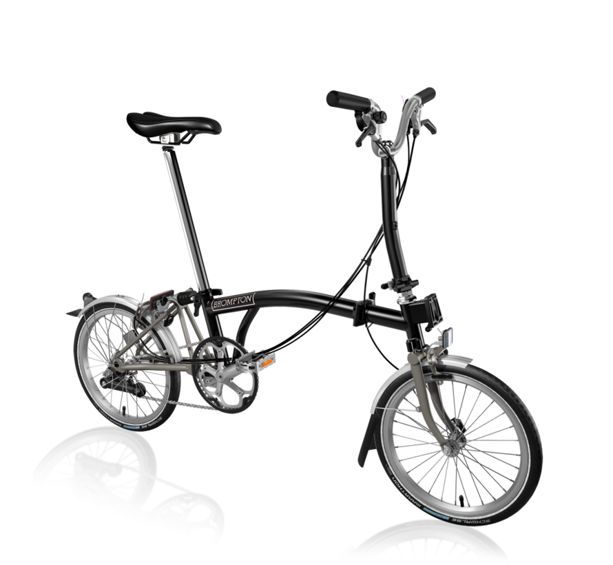 Brompton M6LX Superlight Titanium Folding Bike, Black